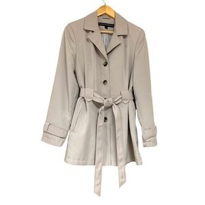 🆕Classic Khaki Tan Lightweight Trench Button Coat